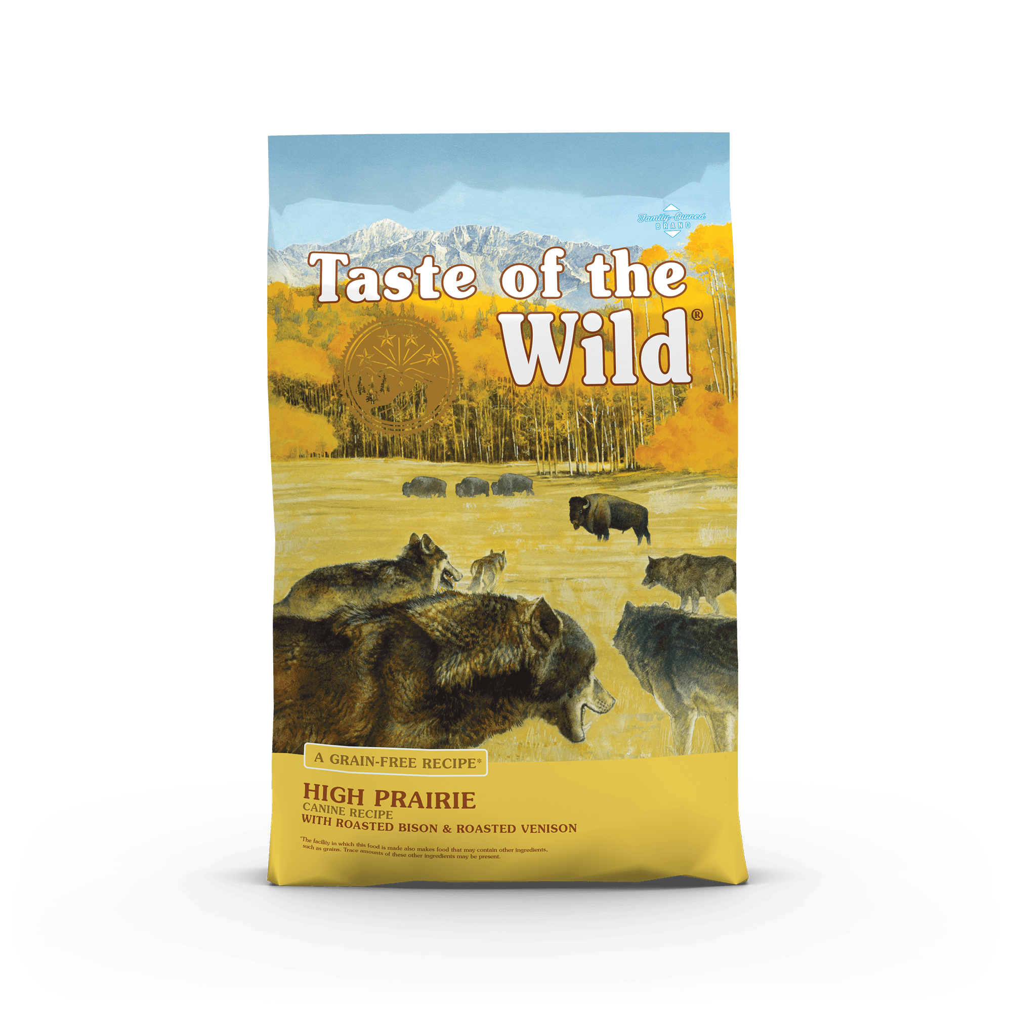 High Prairie Canine Recipe with Roasted Bison & Roasted Venison bag front