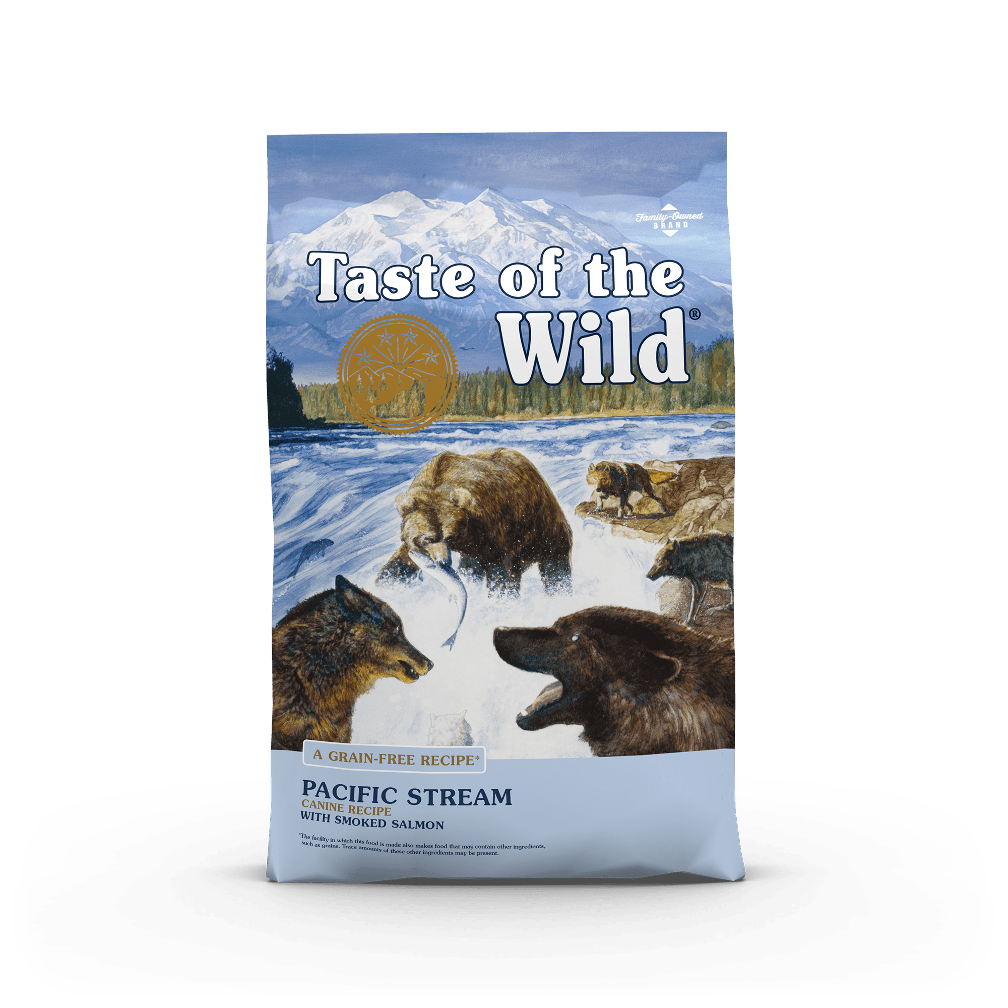 Pacific Stream Canine Recipe with Smoked Salmon bag front