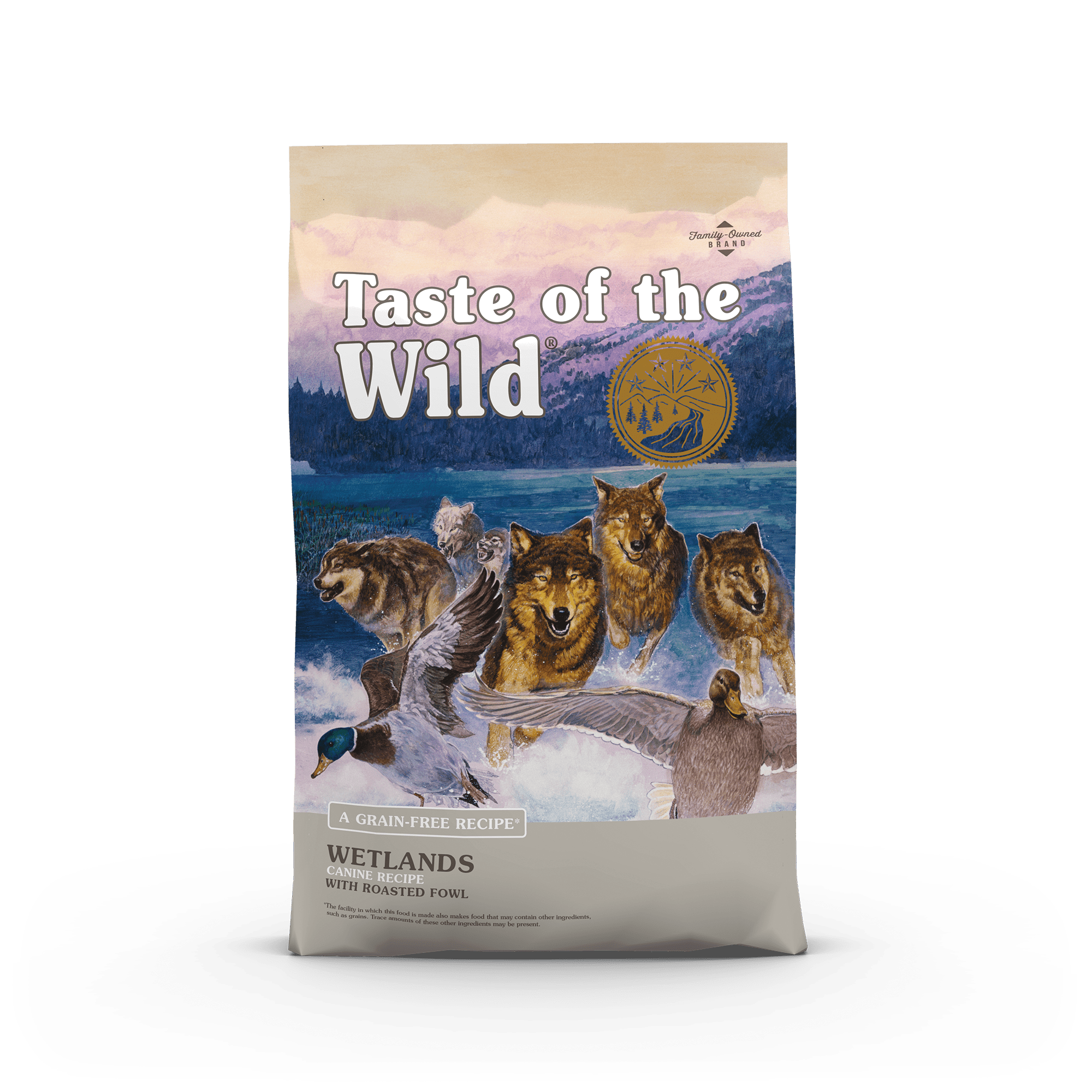 Wetlands Canine Recipe with Roasted Fowl bag front