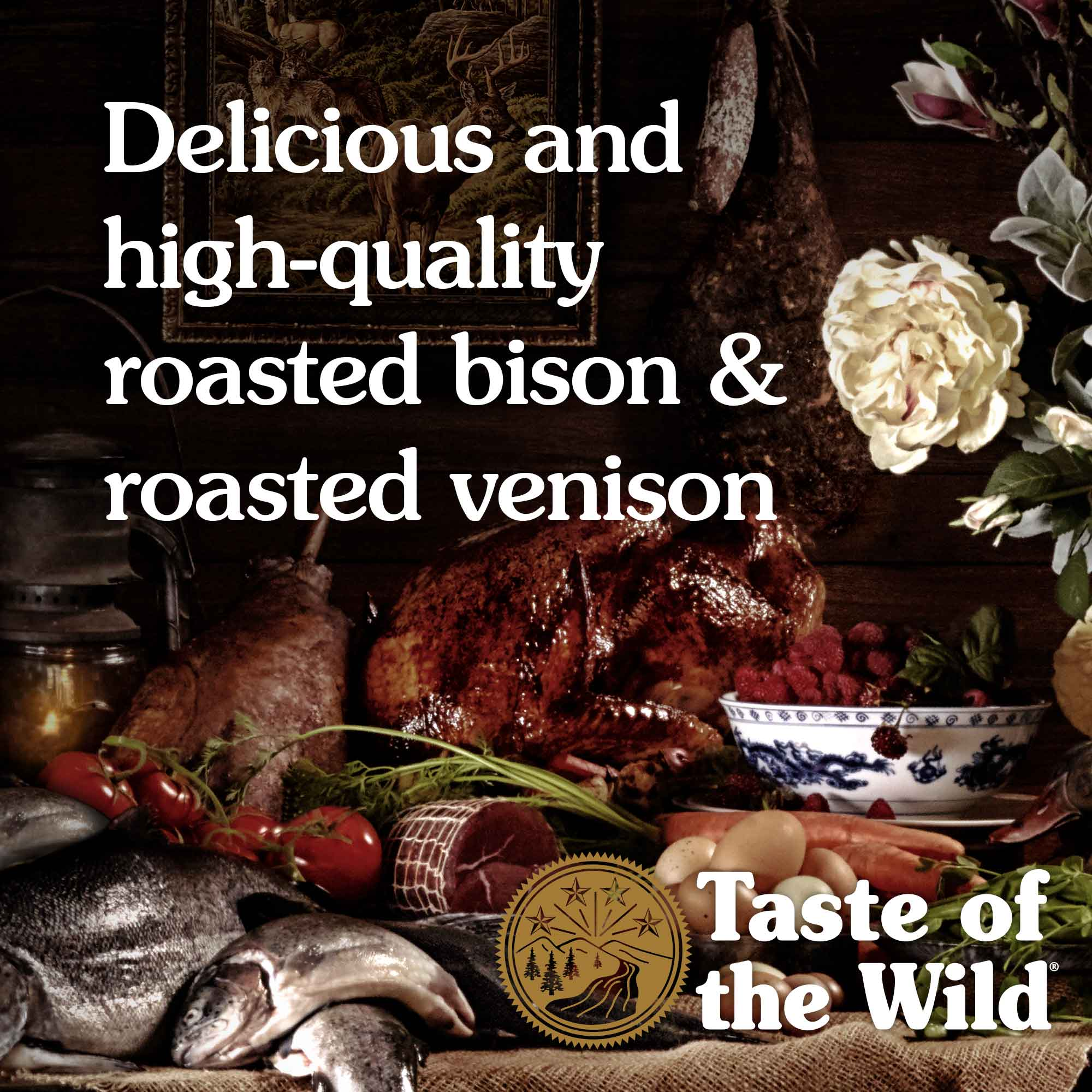 Delicious and high-quality roasted bison & roasted venison