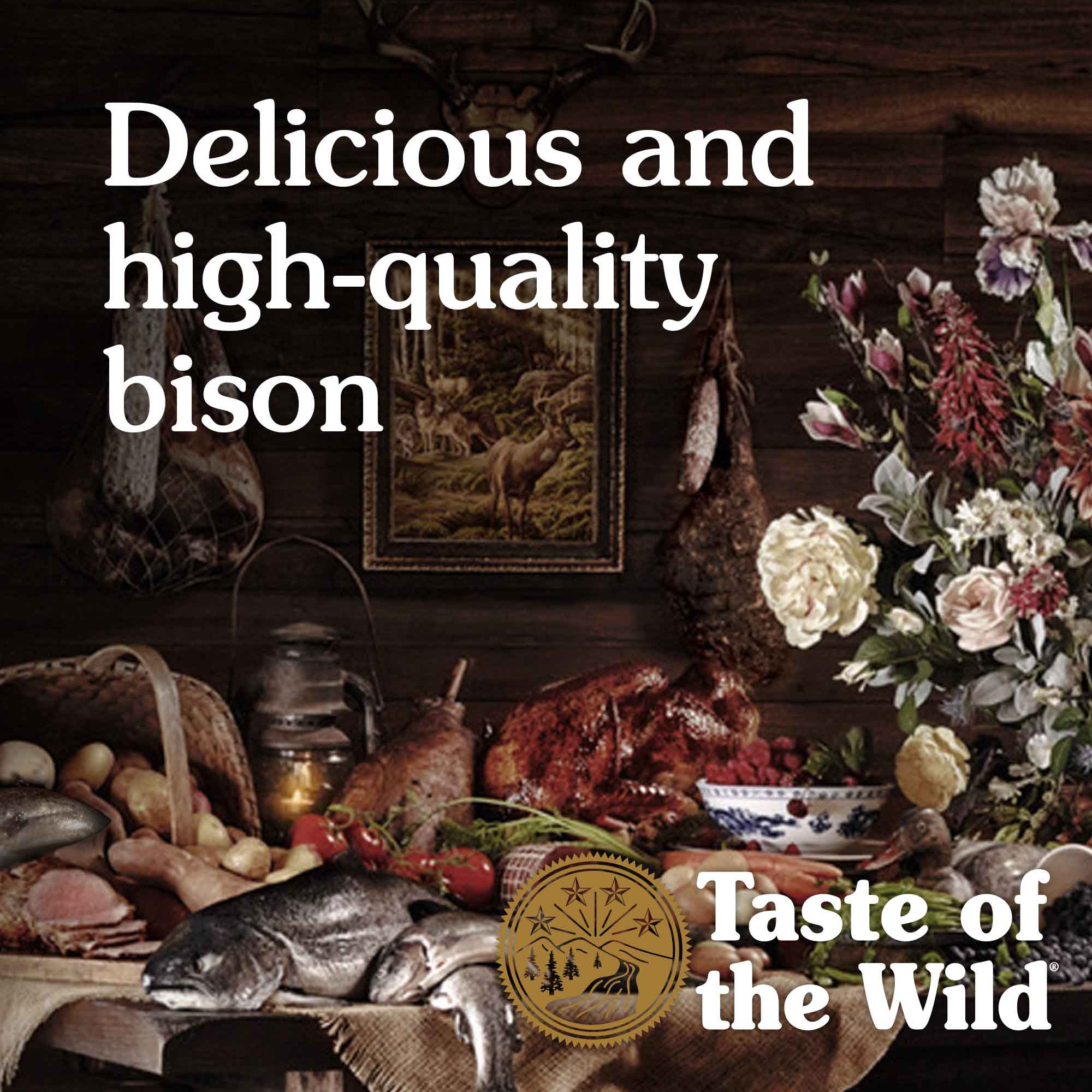 Delicious and high-quality bison