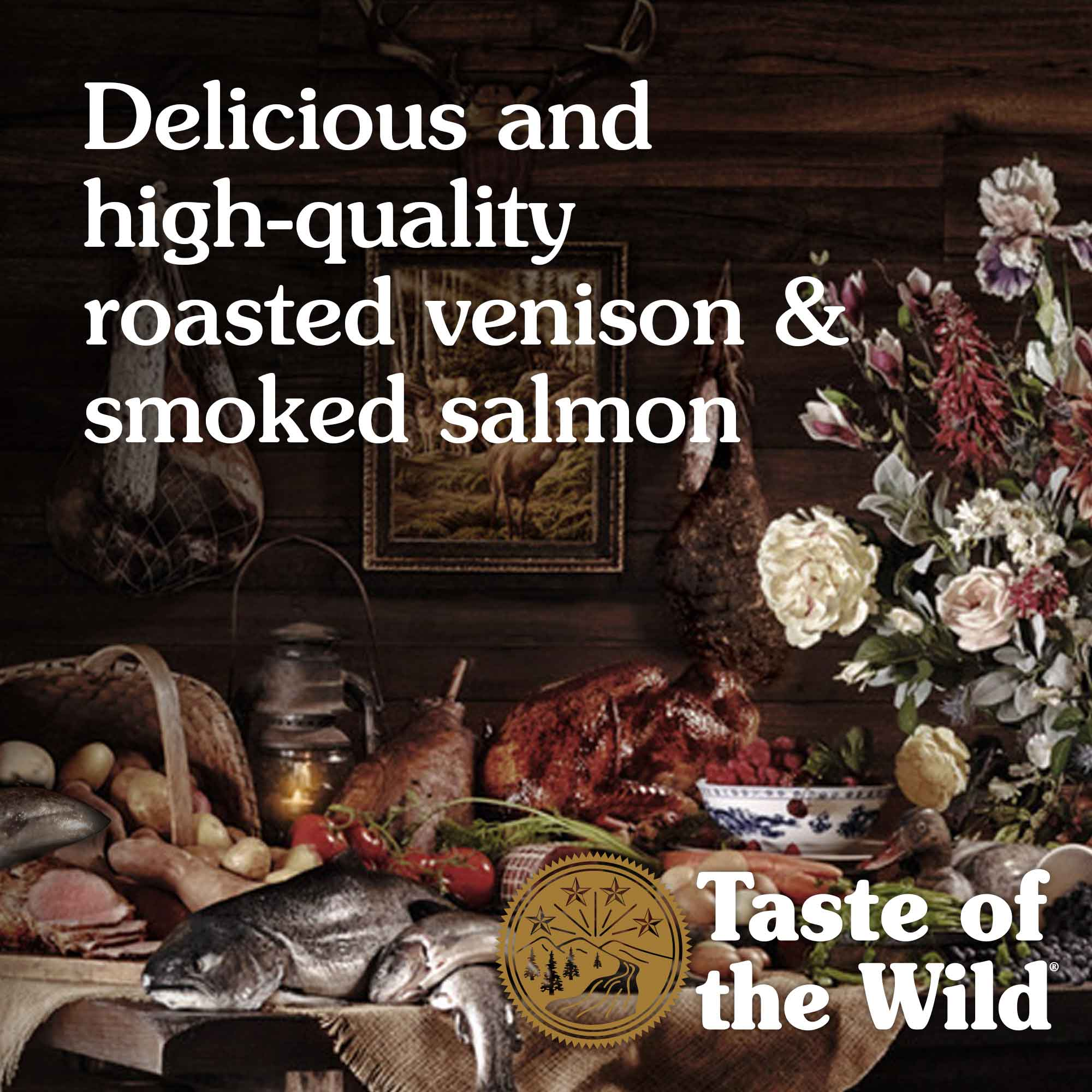 Delicious and high-quality roasted venison & smoked salmon