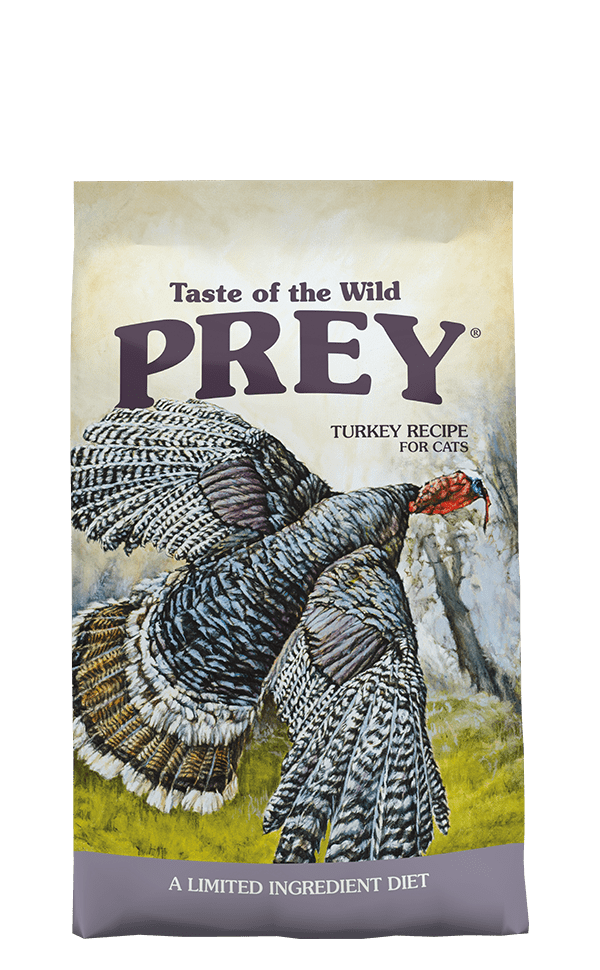 Prey Turkey Formula for Cats product bag - click for more information